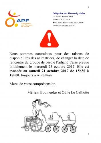 INFO REPORT RENCONTRE GROUPE DE PAROLE .jpg